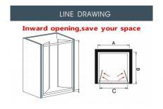 Double Pivot Shower Doors 07