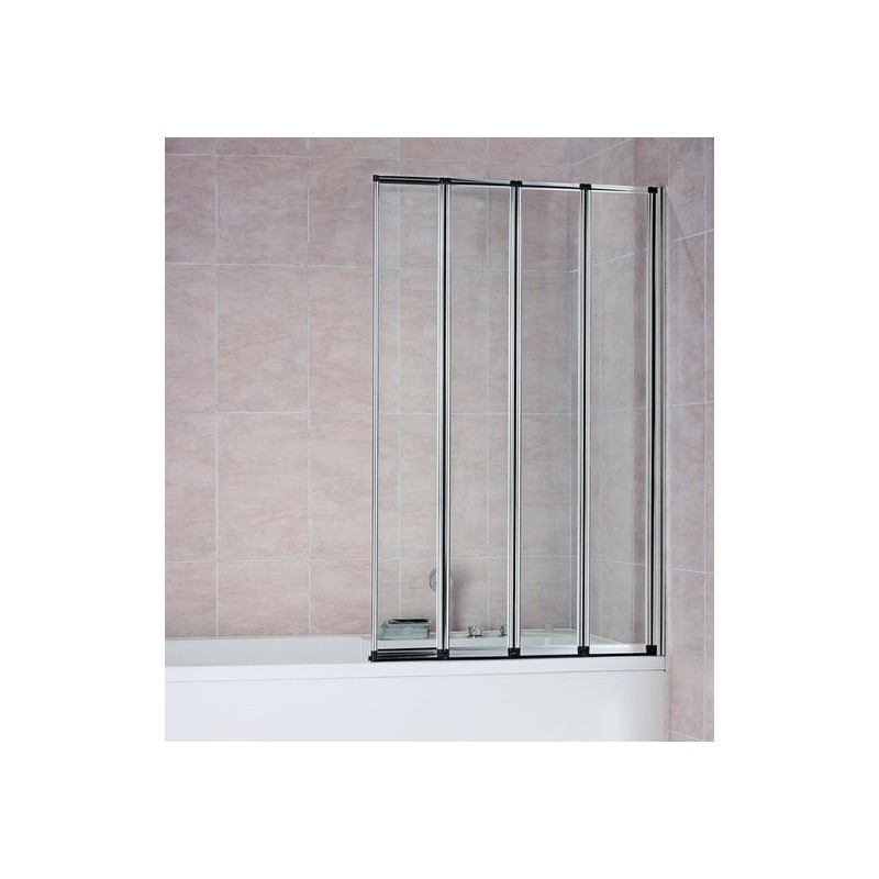 Four Glass Panel Folding Bath Screen